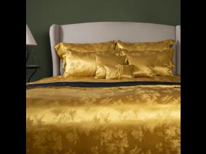 ADA GOLD Svilena posteljnina - Žakard težka svila / 31 momme (mm)