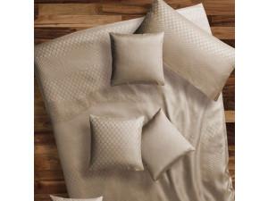 BARCELONA BEIGE Svilena posteljnina - Žakard lahka svila / 22 momme (mm)
