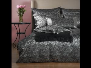 BLACK JOY Svilena posteljnina - Žakard težka svila / 31 momme (mm)
