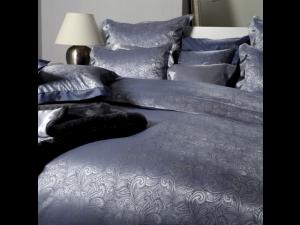 MOMENTO BLU Svilena posteljnina - Žakard težka svila / 31 momme (mm)