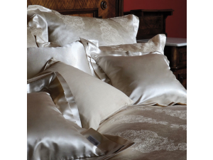 SOGNI D'ORO Svilena posteljnina - Žakard težka svila  / tussah svila / 29 momme (mm)