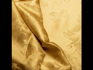 Žakard Svileno blago, Težka svila - ADA GOLD - (širina 280 cm) / 31 momme (mm)