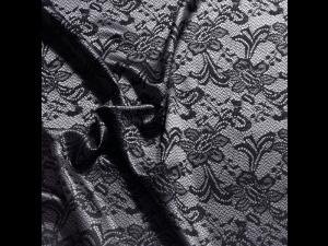 Žakard Svileno blago, Težka svila - BLACK JOY - (širina 280 cm) / 31 momme (mm)