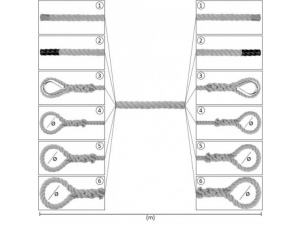 Konopljina vrv z zaključki / NATUR - Ø 50 mm