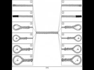 Konopljina vrv z zaključki / NATUR - Ø 60 mm