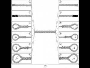 PP Konopljina vrv z zaključki / NATUR - Ø 6 mm