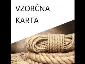 VZORČNA KARTA - Vrvi in pletene vrvice