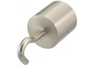 Kovinski zaključek s kljuko za vrv Ø 30 ali 40 mm - MAT NIKEL