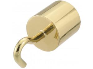 Kovinski zaključek s kljuko za vrv Ø 30 ali 40 mm - SIJAJ MEDENINA
