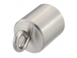 Kovinski zaključek z obročem za vrv Ø 30 ali 40 mm - JEKLO