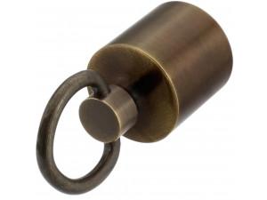 Kovinski zaključek z obročem - za vrv Ø 30 ali 40  mm - BRONZAN