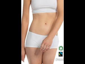 EKO Bombažne Ženske Boxer spodnje hlačke /bodyfitelegance - BELA