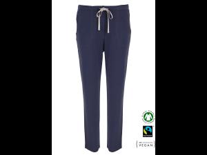 EKO Bombažna Ženske spalne hlače /basic - MODRA