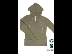 EKO Bombažna Ženski pulover /c yoga - ZELENA