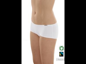 EKO Bombažne Ženske Boxer spodnje hlačke /bodyfit - BELA