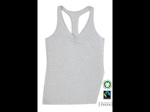 EKO Bombažna Ženska majica /a yoga - SIVA