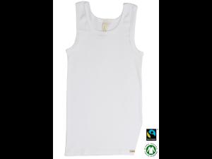 EKO Bombažna Otroška majica /a basic - BELA - 104 do 164