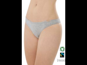 EKO Bombažne Ženske String spodnje hlačke /bodyfit - SIVA